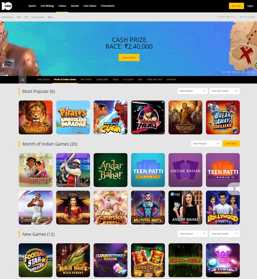 Games 10Cric Casino