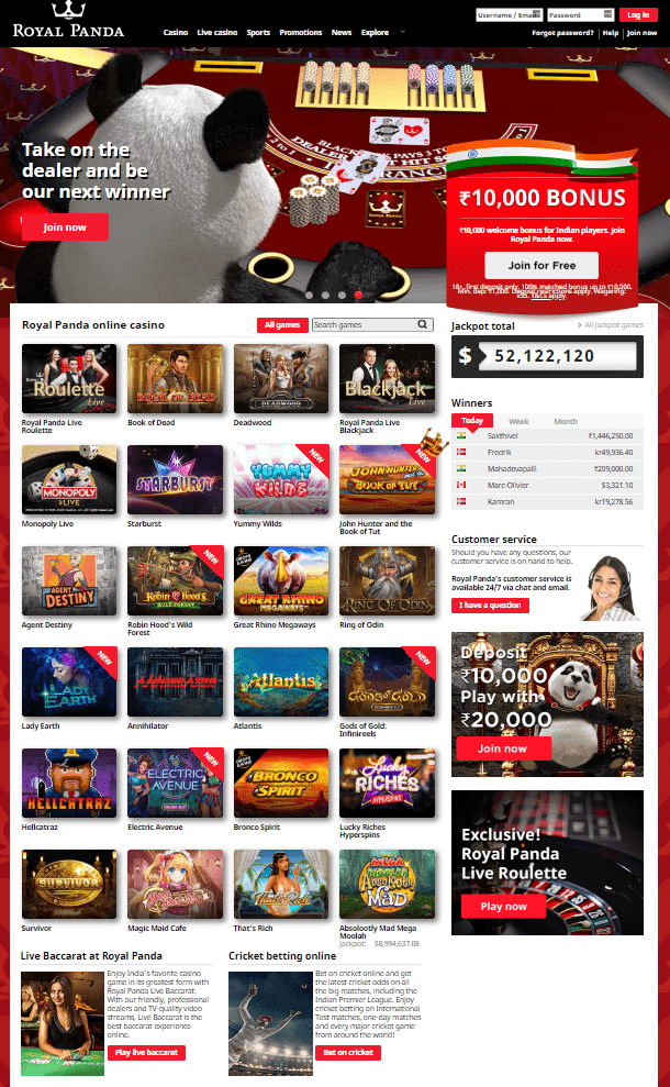 Slots Royal Panda Casino